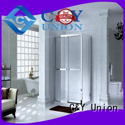 C&Y Union popular framed shower glass doors manufacturer for corner
