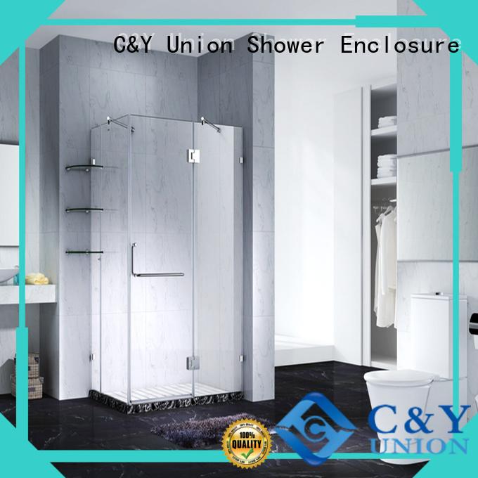 C&Y Union firm frameless glass doors shower screen for tub