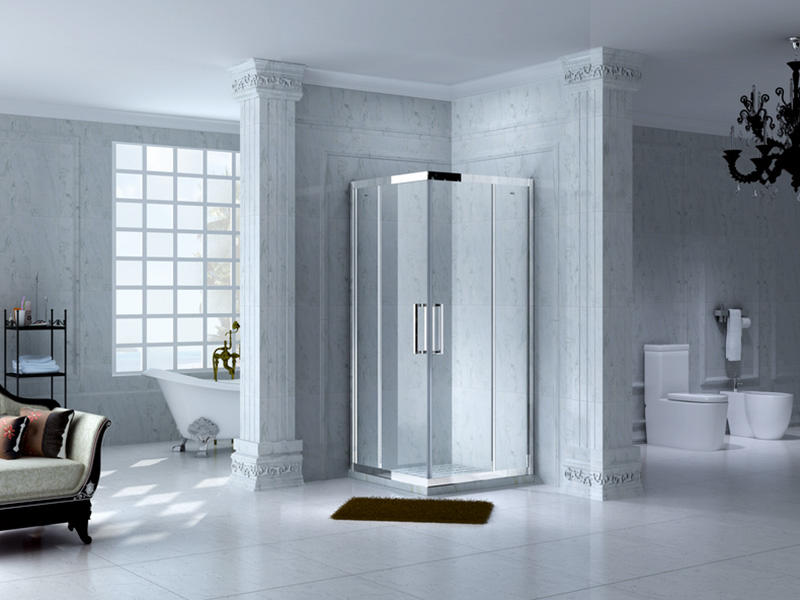 practical semi framed shower for tub for alcove-1