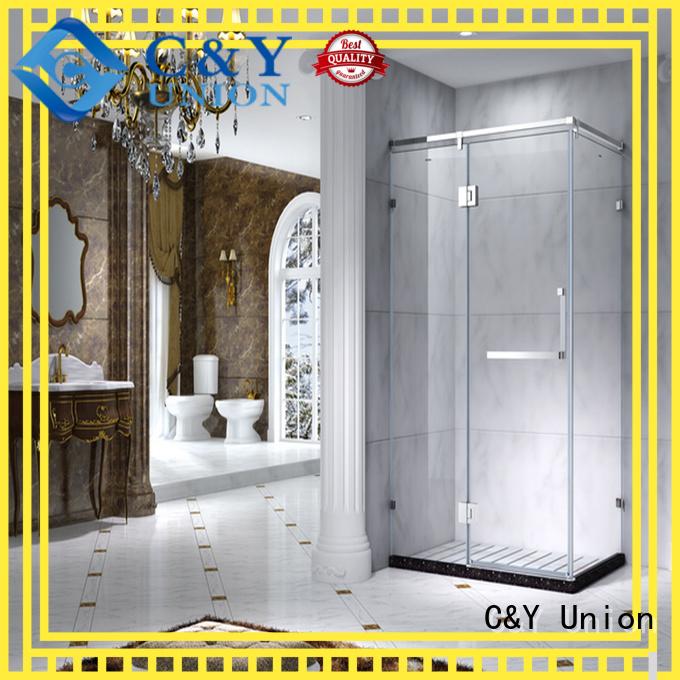 colorful framed shower glass doors manufacturer for corner