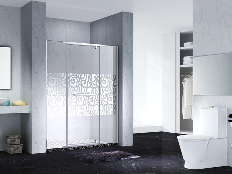 Neo-Angle Hinged Semi Frameless Diamond shape shower enclosure with pivot door,CY3231-3