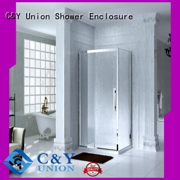 C&Y Union Brand quick shower door enclosures luxury factory