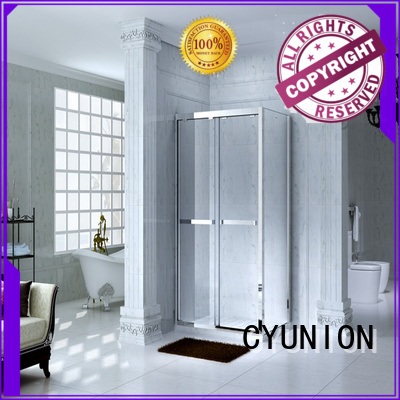 glass shower doors for tub adjustable style CYUNION Brand company