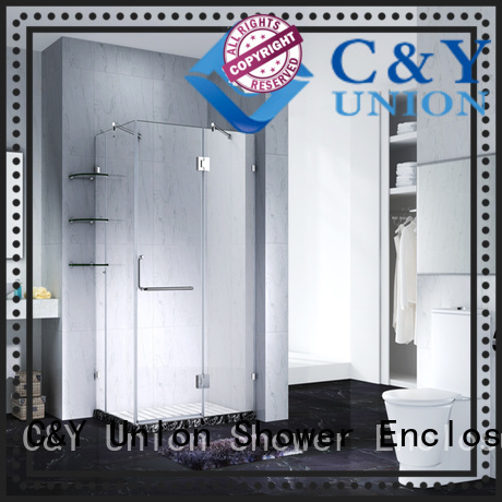 C&Y Union firm glass shower enclosures factory for tub