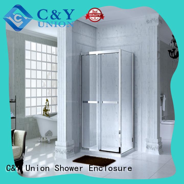 stainless steel framed glass shower door with sliding door for shower room