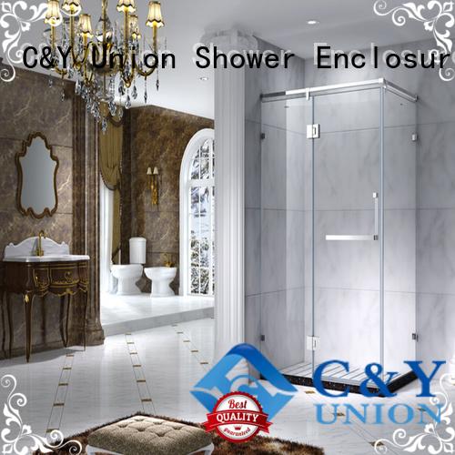 durable framed shower glass doors with sliding door for shower room