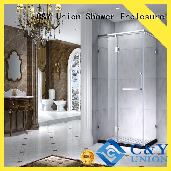 stainless steel framed glass shower enclosure manufacturer for shower room