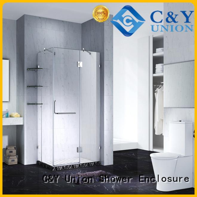C&Y Union frameless shower screen shower panels for shower room