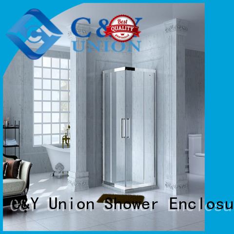 C&Y Union popular custom framed shower doors for corner