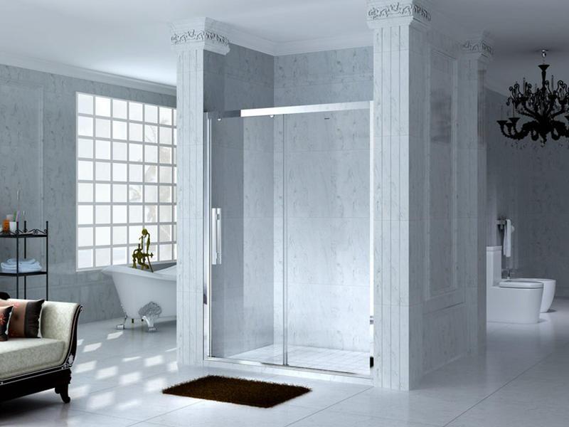 C&Y Union practical framed shower glass doors for shower room-1