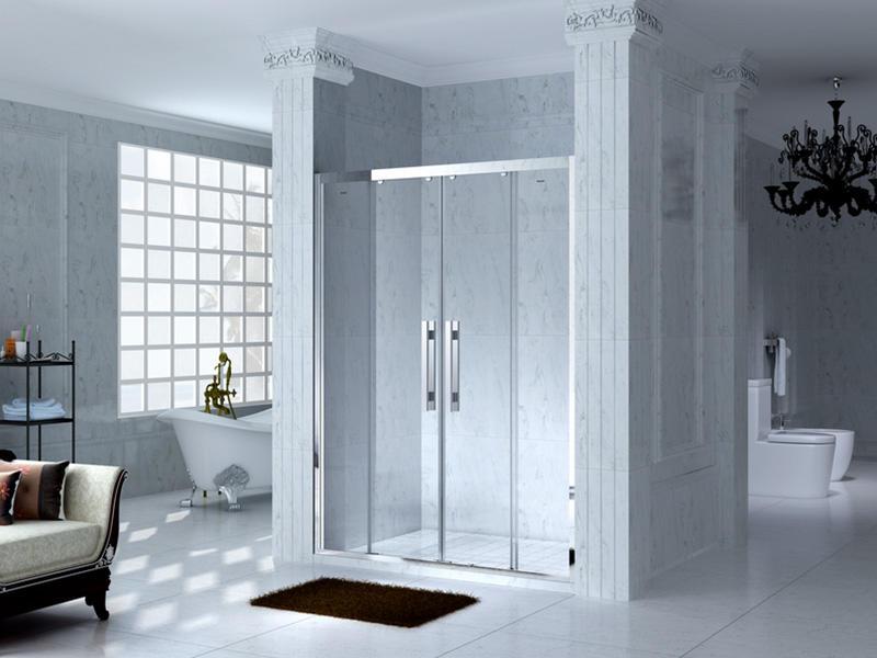 C&Y Union practical framed shower glass doors for shower room-3