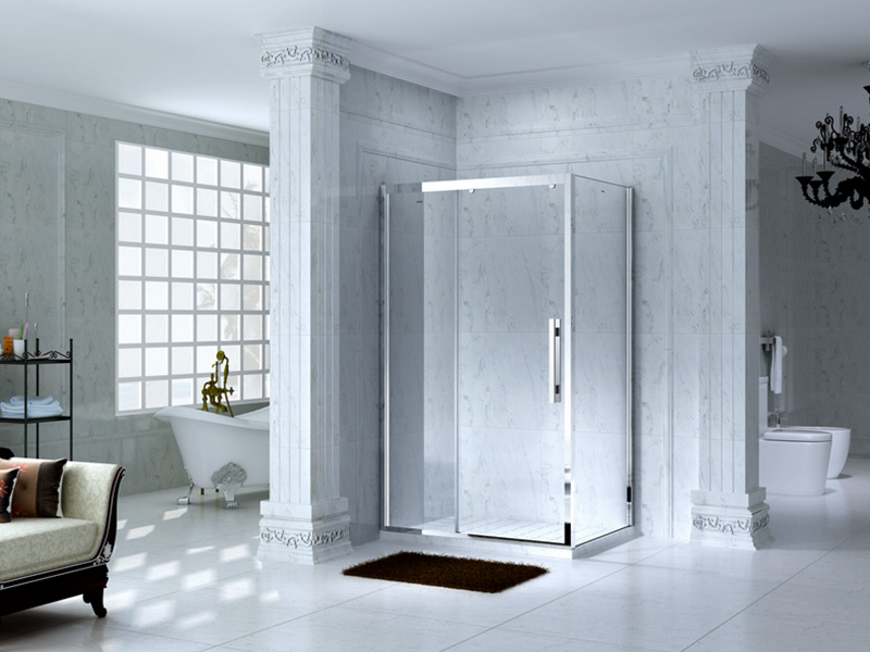 elegant framed glass shower for tub for alcove-6