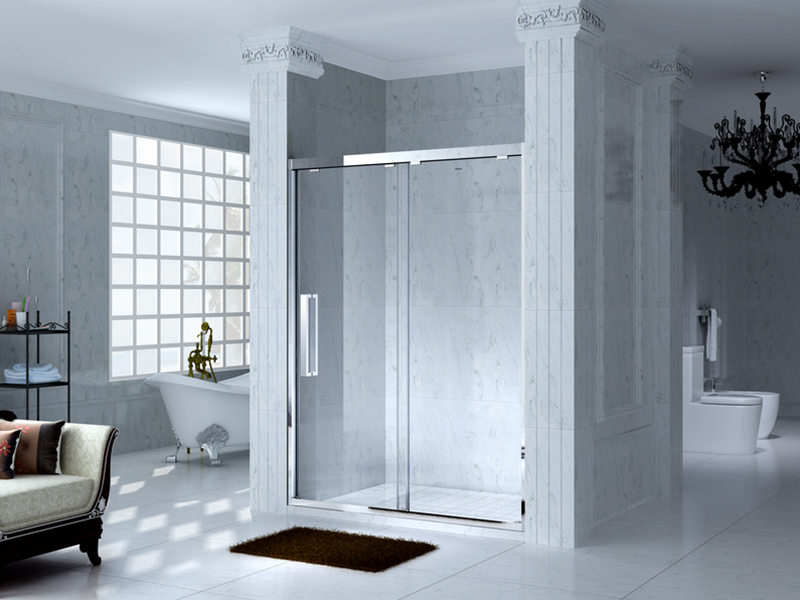 C&Y Union aluminum framed glass shower for sale for alcove