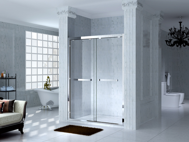 durable framed glass shower with sliding door for bagnio