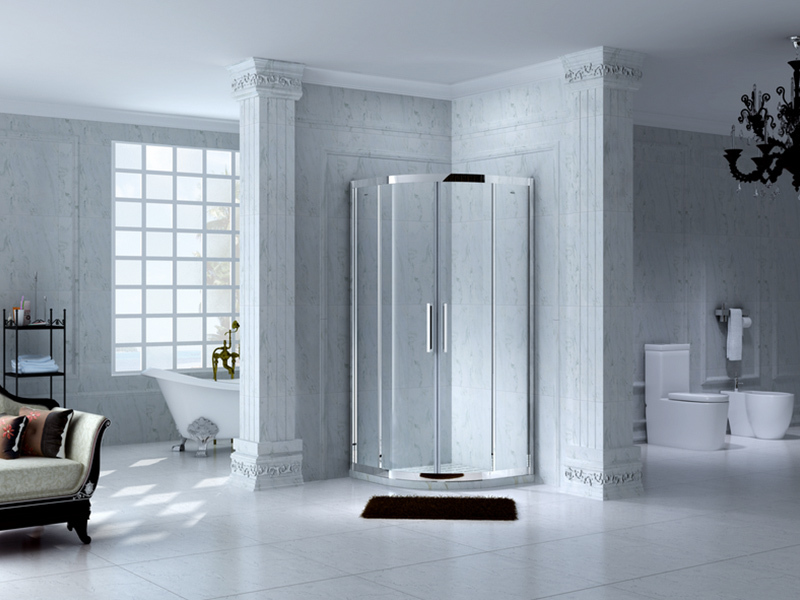 C&Y Union stainless steel framed shower glass doors for tub for bath