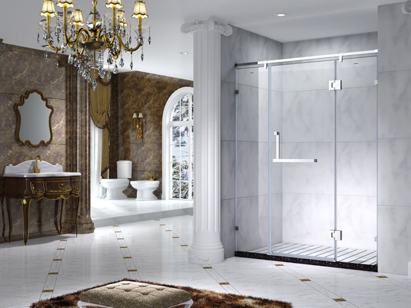 C&Y Union aluminum semi framed shower door manufacturer for standalone showers-6
