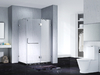 Slimline Frameless Rectangle shower enclosure with pivot door,CY1242-1