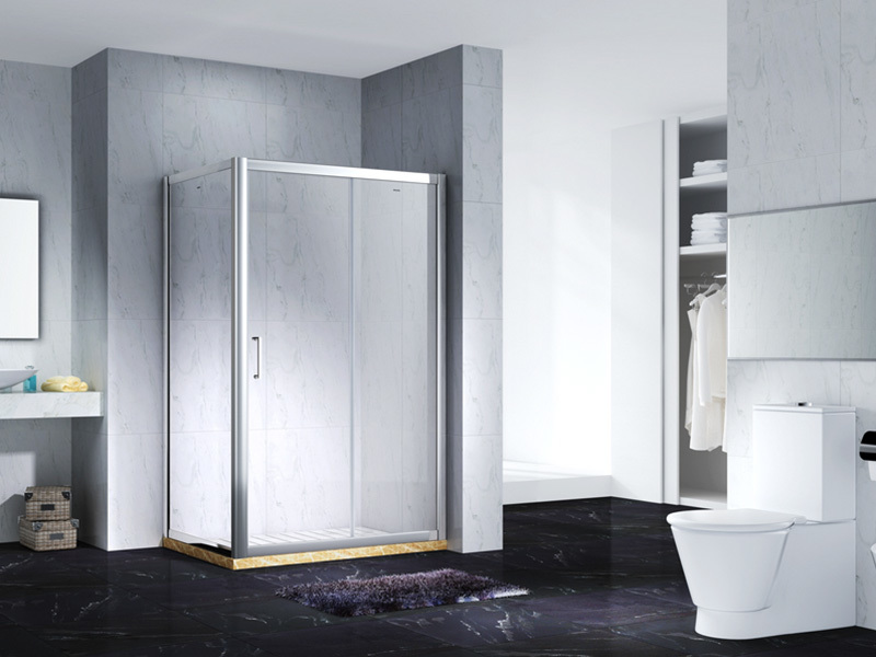elegant semi framed shower with sliding door for bagnio