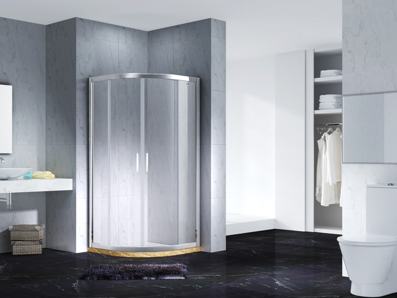 stainless steel framed glass shower enclosure for bagnio-3