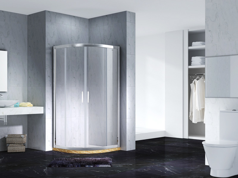 stainless steel framed glass shower enclosure for bagnio