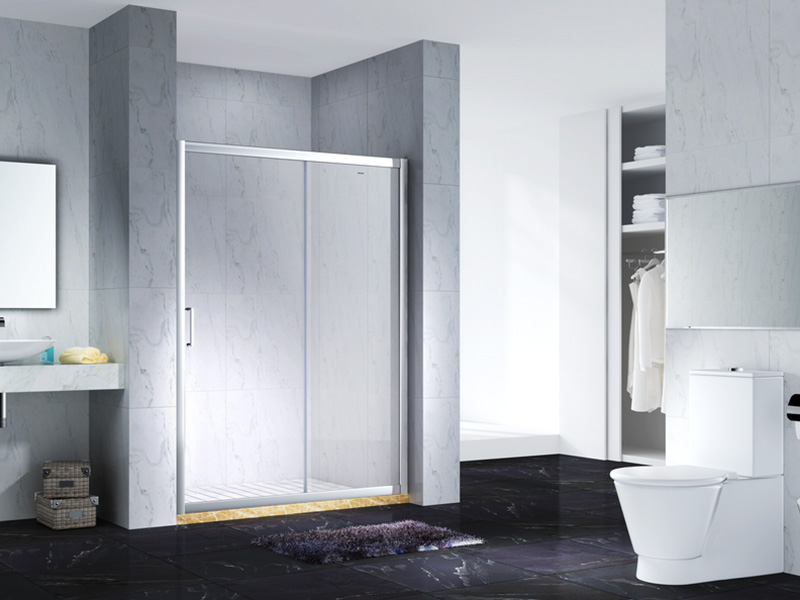 elegant semi framed shower with sliding door for bagnio-6