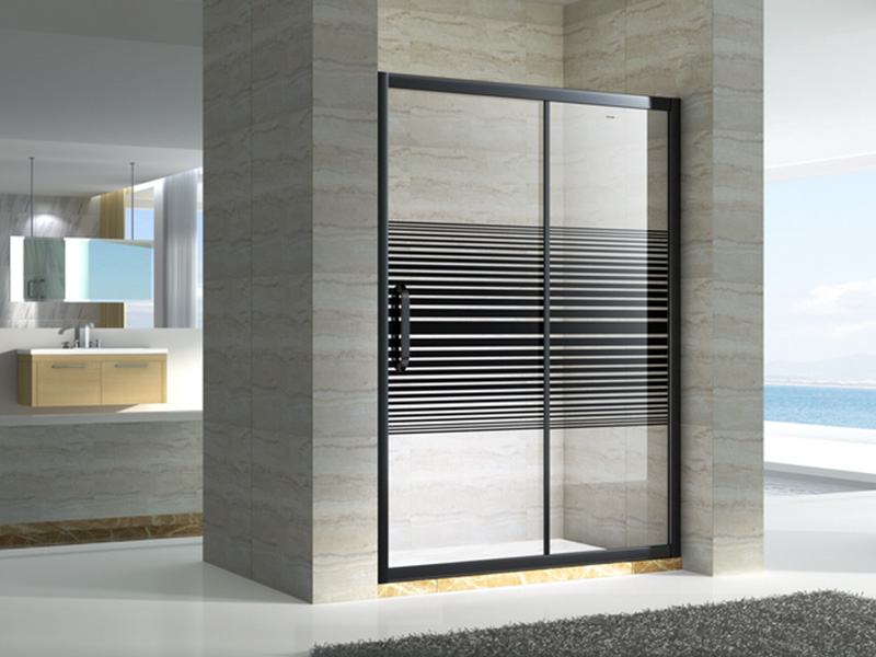 stainless steel framed glass shower door with sliding door for bagnio-5