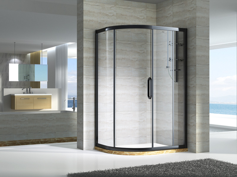 stainless steel framed glass shower door with sliding door for bagnio-6