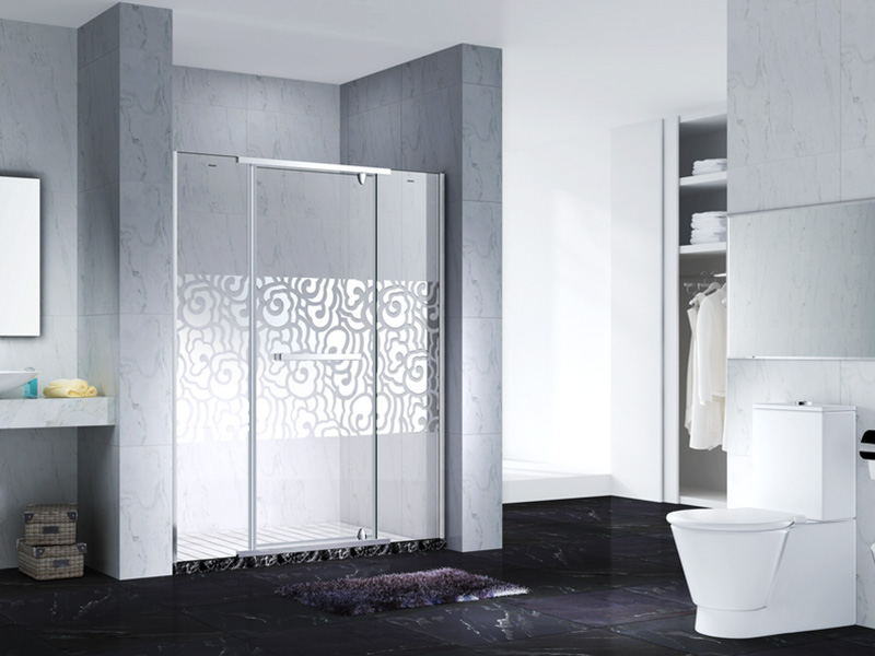 C&Y Union frameless glass doors cabin for shower room-3