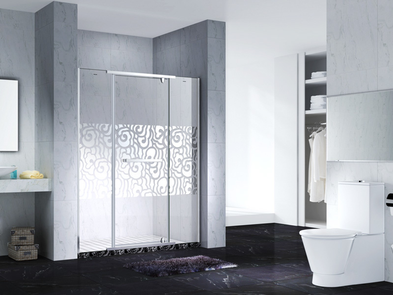 C&Y Union elegant frameless glass shower doors cubicles for bath