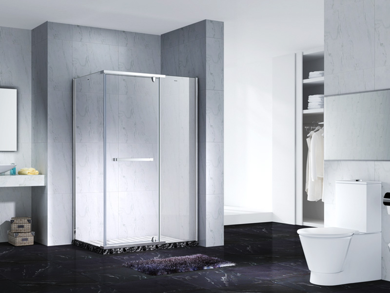 elegant semi frameless shower door for shower room-6