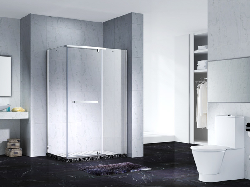elegant semi frameless shower door for shower room
