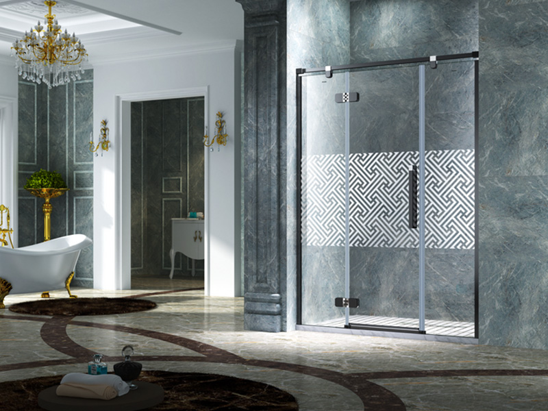 firm frameless glass doors shower panels for bath-4