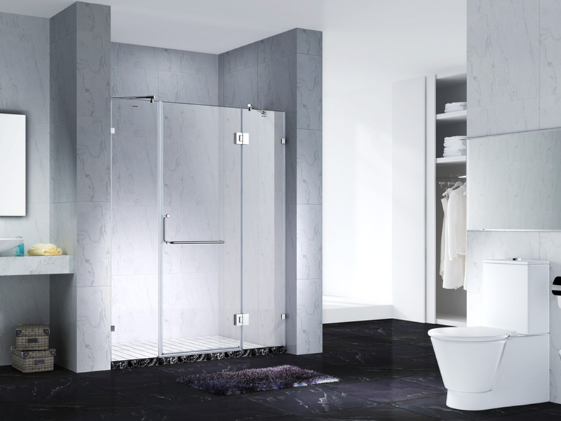 C&Y Union frameless shower screen cubicles for bagnio-1