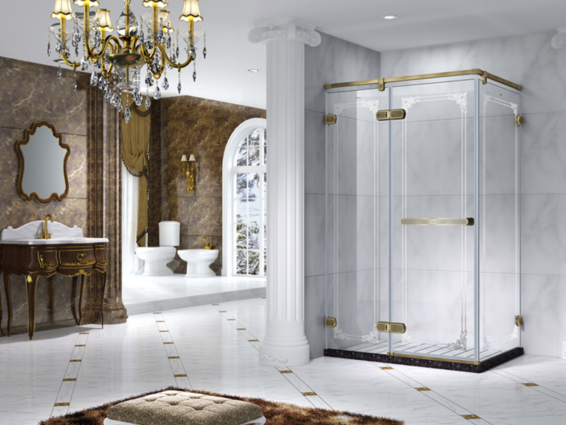 Semi Frameless Rectangle shower enclosure with pivot door,CY6231-2