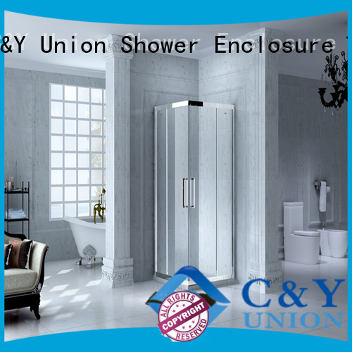 C&Y Union stainless steel framed glass shower manufacturer for shower room