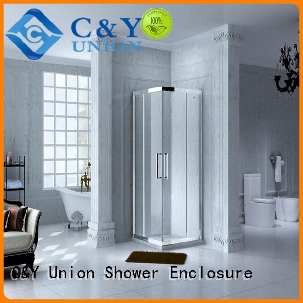 elegant framed shower glass doors for alcove