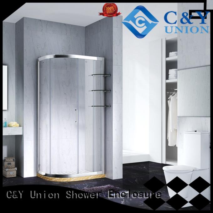 framed glass shower door manufacturer for alcove C&Y Union