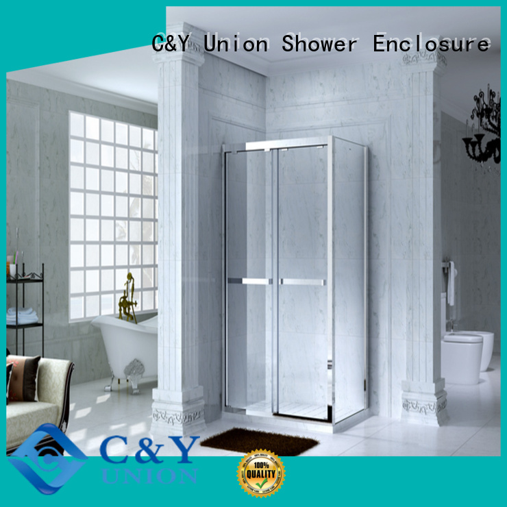 C&Y Union framed glass shower door for bath