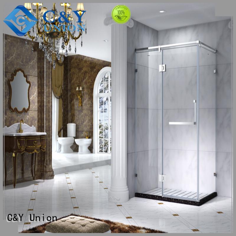 aluminum custom framed shower doors manufacturer for bathroom