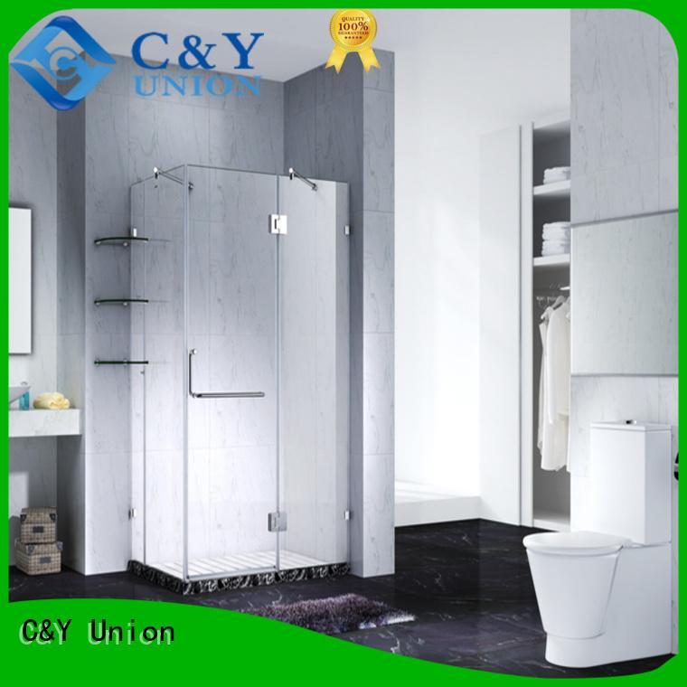 C&Y Union frameless glass shower doors factory for bath