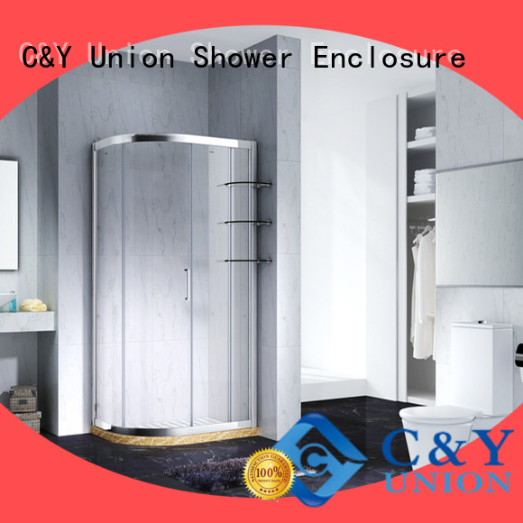 C&Y Union colorful framed glass shower door with sliding door for bathtub showers