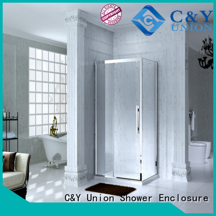 durable semi framed shower manufacturer for standalone showers