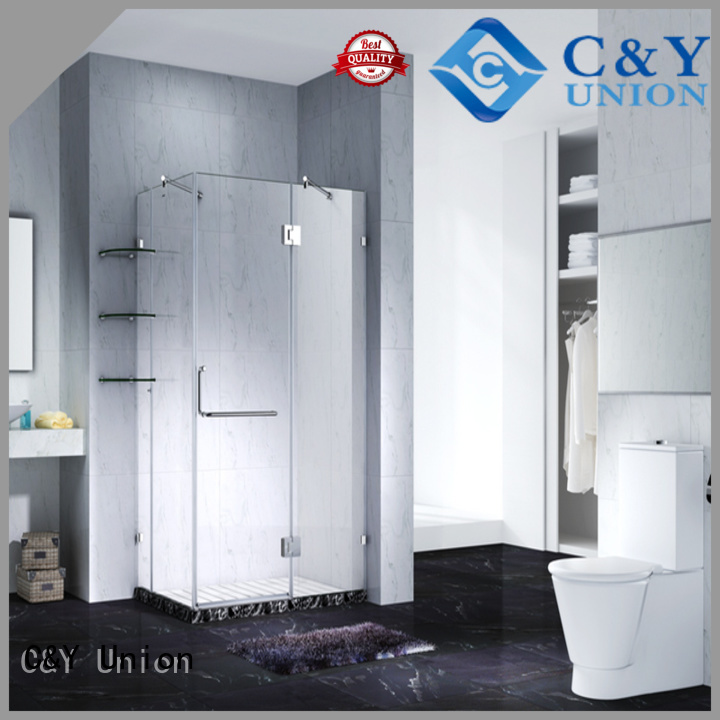 C&Y Union elegant frameless shower enclosure cabin for shower room