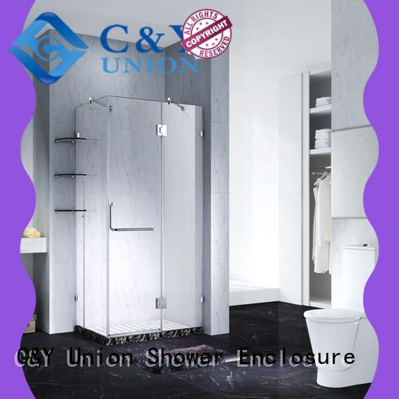 frameless shower screen shower panels for bath C&Y Union