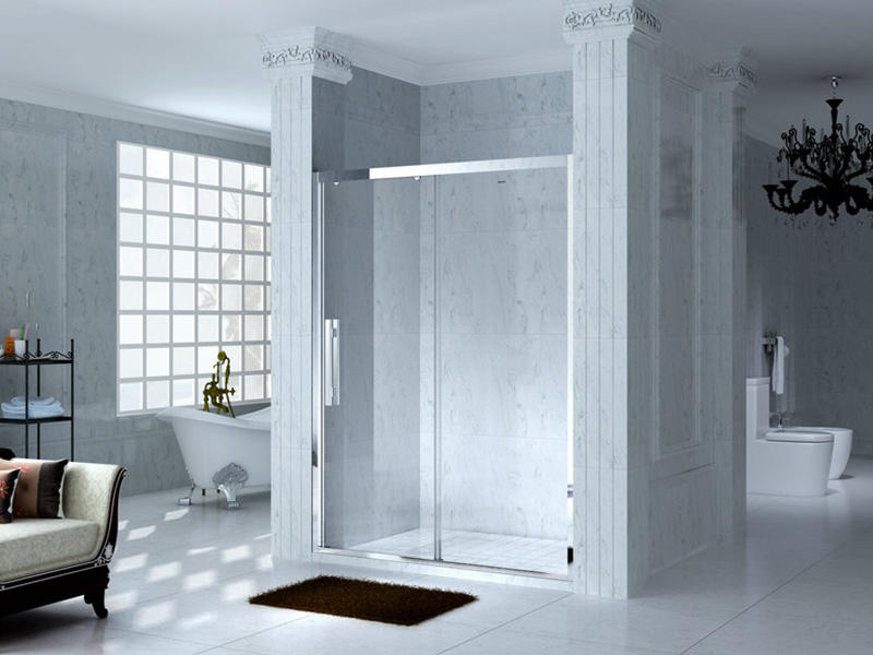 C&Y Union semi framed shower door with sliding door for bathtub showers-1
