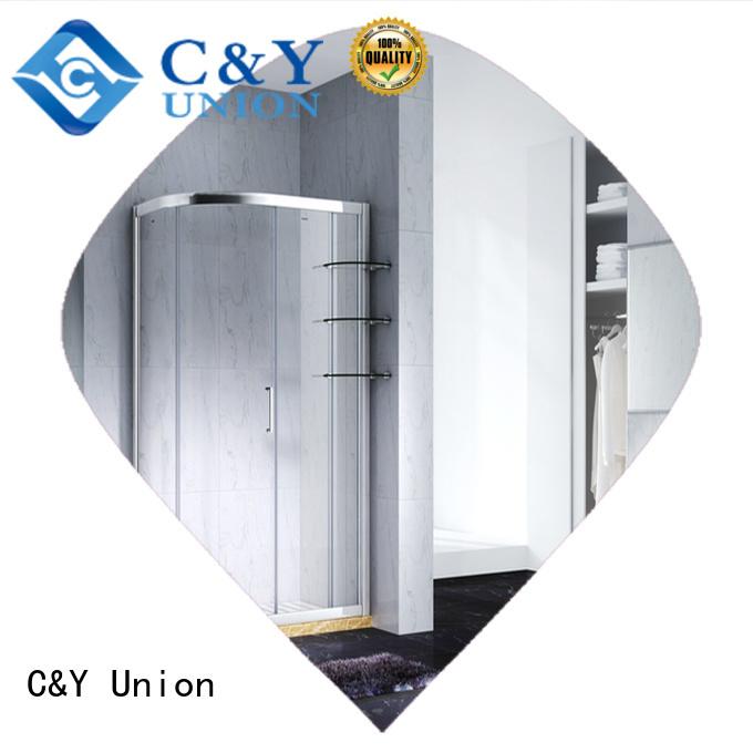 semi framed shower door for tub for corner C&Y Union