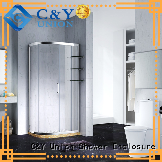 C&Y Union framed glass shower for alcove