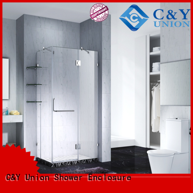 frameless shower cubicles for tub C&Y Union