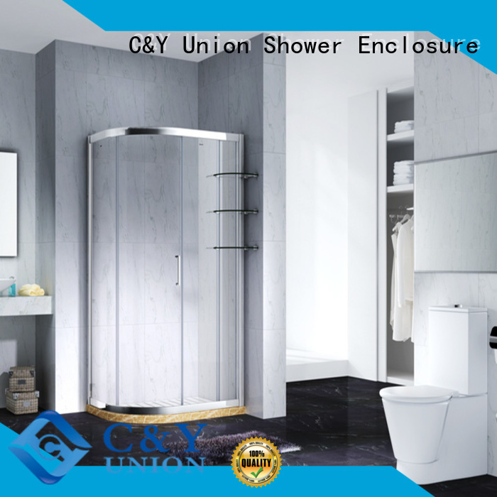 C&Y Union durable framed glass shower door for sale for bagnio