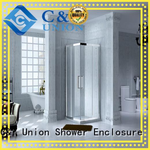 C&Y Union popular chrome framed shower door for bathtub showers